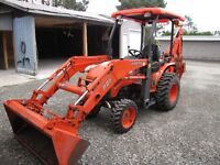 Rare find Kubota B-26 4X4 loader, backhoe only 650