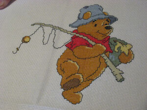 Pooh on a fishing trip