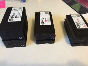 HP 950xl and 951xl ink cartridges