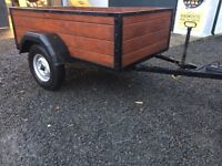 Car trailer 5x3.5 fitted light board drop down tailgate