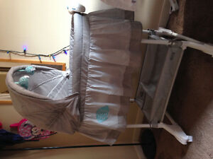 Lightly used bassinet and brand new breast pump!