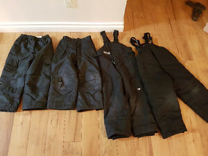 4 pair of black snow pants size 4