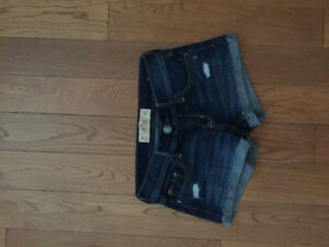NEVER WORN Hollister Women's Jean shorts size 00
