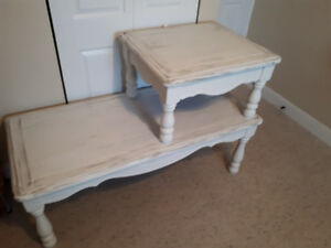 Refurbished coffe and end table set