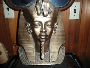 EGYPTIAN DECO RAMESSES PHAROAH BUST STATUE North Shore Greater Vancouver Area image 2