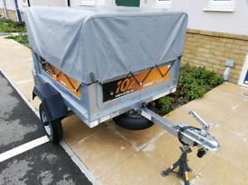 Erde 102 classic trailer with high frame and cover