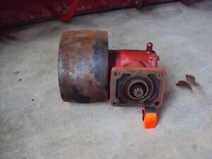 Tractor pulley and belt