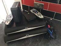 2x Sky Hd Boxes, Router, Wireless Wifi Connector