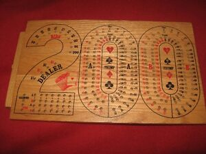 200 CARD GAME WOODEN CARD BOARD