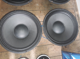 """12"""" peavey 300w subwoofers in perfect working order swap sell offers"""