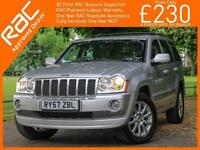 2007 Jeep GRAND CHEROKEE 3.0 CRD Turbo Diesel Overland 4x4 4WD Auto Sat Nav Leat