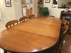 Solid Maple Dining Room Suite - REDUCED PRICE