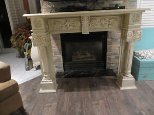 60'' Hand carved mantel with hand rubbed glazed