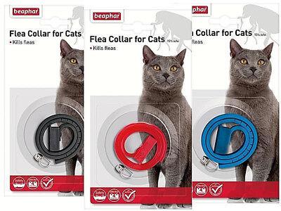 BEAPHAR PLASTIC WATERPROOF CAT KITTEN FLEA COLLAR 4 MONTH PR