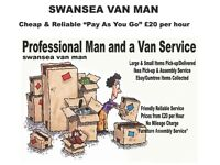 CHEAP + RELIABLE MAN WITH A VAN FROM £20.00 PER HOUR: ONE ITEM TO FULL LOAD