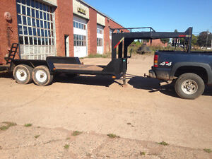 Goose neck heavy duty trailer,  6 X 16 deck.