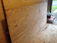 Plywood boards x 2