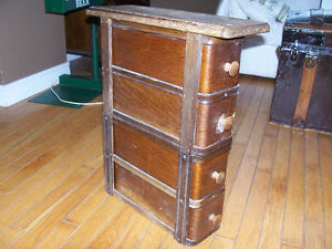 Small Cabinet Made From Antique Sewing Machine Drawers