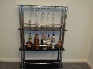 Beautiful Glass Bar Stand Cambridge Kitchener Area image 2