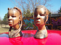 Wooden Carvings of African Duo