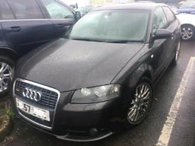 Audi A3 2004-2012 s line breaking black / grey engine gearbox door