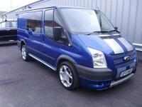 Ford Transit Sport Double Cab Van 2.2TDCi 140PS 260S SWB in Blue + A/C - Onsite