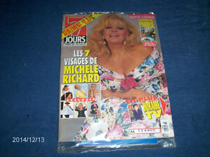 7 JOURS HEBDO-WRAPPED-4/1992-MICHELE RICHARD-TV HORAIRE