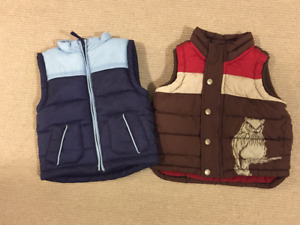 Toddler Fall/Winter Vests - 12-18M