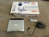 SMC Wireless Router ADSL DRAFT 802.11n 300Mbs