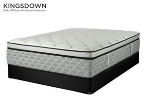 """QUEEN AND KING LUXURY """"KINGSDOWN"""" POCKET COIL MATTRESSES ON SALE"""