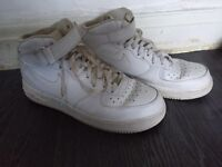 Men's size 10 White Air Force 1 high tops