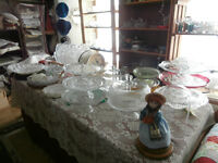 Very Large Selection of Vintage Glass and Porcelain Cake Stands