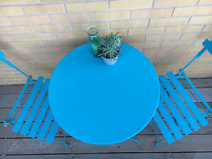 Cute Blue Patio Table for Two Kitchener / Waterloo Kitchener Area image 3