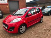 2012 Peugeot 107 1.0 12v Active ( 68bhp ) Red 5dr Hatch, **ANY PX WELCOME**