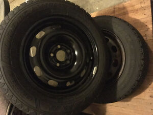 Winter tires with rims Stratford Kitchener Area image 1
