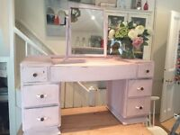 Stunning 1930s painted dressing table and mirror