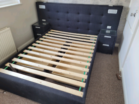 Double bed with Bluetooth, lights, and more!