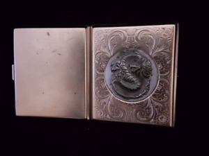 RELIEF OF DRAGON ON METAL CIGARETTE / ROLLED  SMOKE CASE 75% OFF