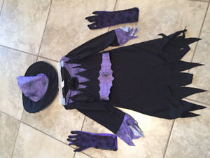 Girls Witch Costume, 5-8 years old