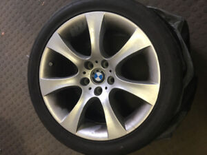 "Set of 4 BMW run flat tires with 18"" rims from a 2008 535i"