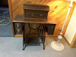 New Home antique sewing machine with stand