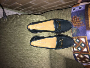 Clarks leather loafers