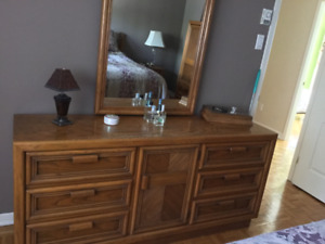 MUST GO Solid Oak 5-piece Bedroom Set (can be sold separately)
