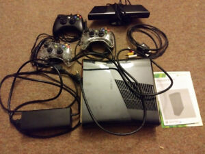 X Box 360 with 26 games, 3 controllers and kinetic
