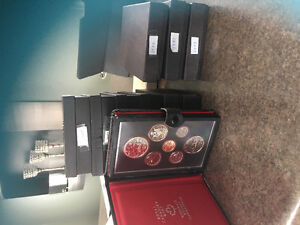 Coin collection. Double dollar proof sets.