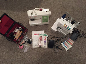 SINGER SEWING MACHINE, BROTHER SERGER FOR SALE