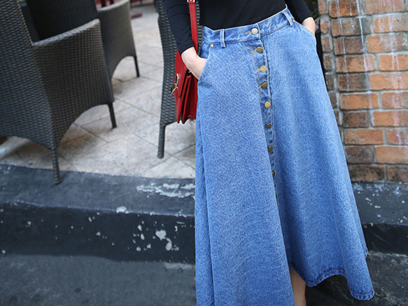 How to Make a Long Denim Skirt From Jeans | eBay