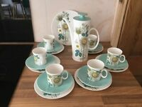 Retro coffee set and plates