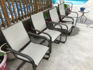 6 patio chairs in great condition.  $75 OBO