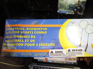 Badminton/Volleyball-4 Player Sports Combo$25.00